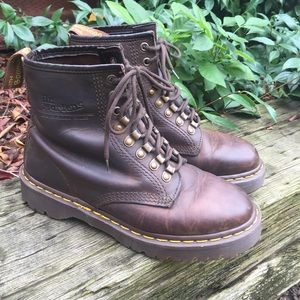 Dr Martens England Tunnel Eye Brown Combat Boots